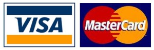 Master Card and Visa Card accepted for payment of goods